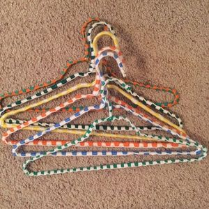 6 hand crocheted clothes hangers